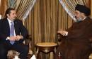 Lebanon's Hezbollah leader Nasrallah meets with Lebanon's Parliament majority leader al-Hariri in Beirut's suburbs