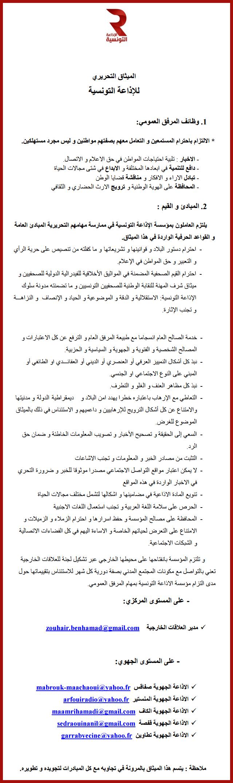 ميثاق الإذاعة التونسية