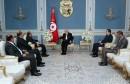 لقاء السبسي برئيس الحكومة الليبية السابق محمود جبريل