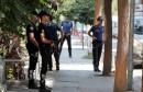 Police officers patrol outside the home of U.S. pastor Andrew Brunson in Izmir
