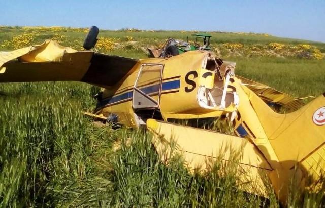 سقوط طائرة فلاحية