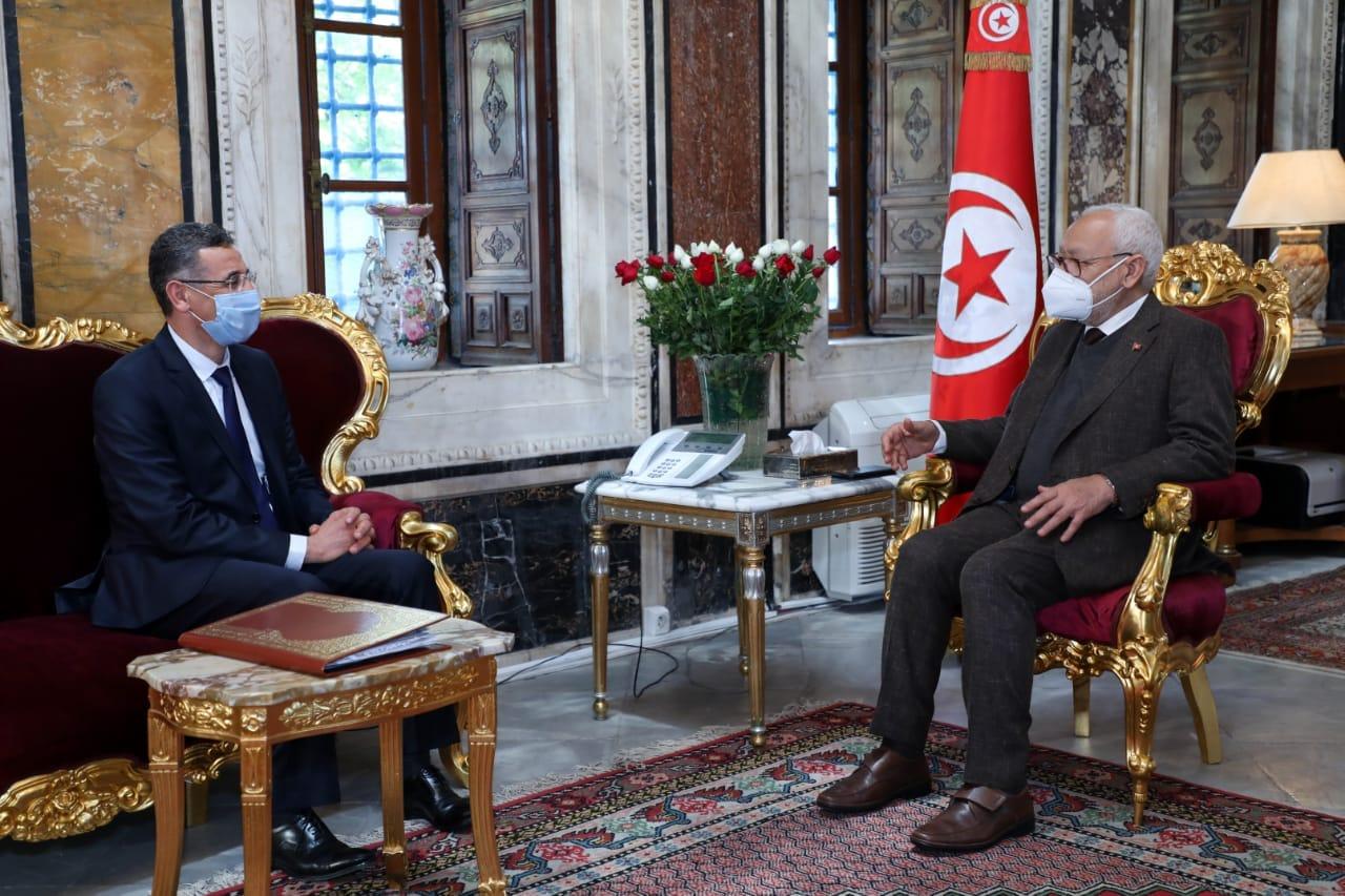 الغنوشي مع وزير الداخلية