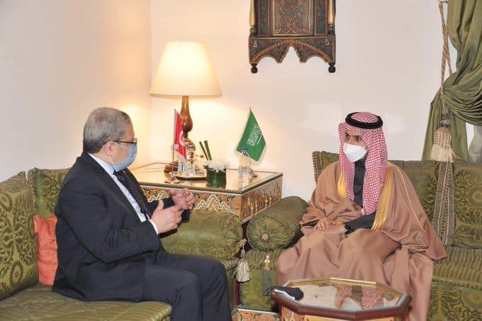 وزير الخارجية التونسي والسعودي